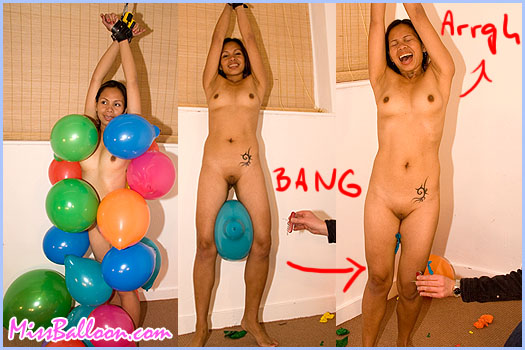 bondage and balloon popping from Miss Balloon